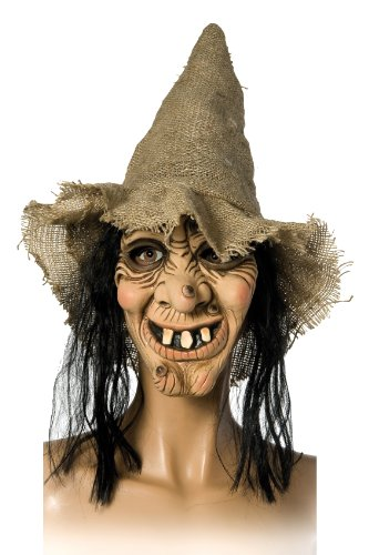 Rubies 6 240311 - Hexenmaske mit Hut + Haaren