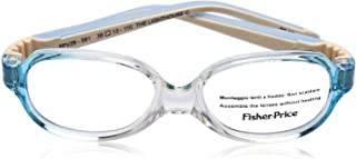 Fisher-Price FPV29 Two-Tone Rectangular Medical Glasses for Kids - Clear and Blue