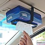 Tianmei Auto Accessories Car Sun Visor Tissue Box Holder Paper Towel Napkin Box Cover Seat Back Bracket Portable Car Mount Organizer (Black)