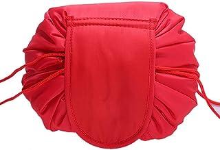 حقيبة مستحضرات تجميل بسعة عالية  حقيبة مكياج مريحة لطاولة التبرج - احمر