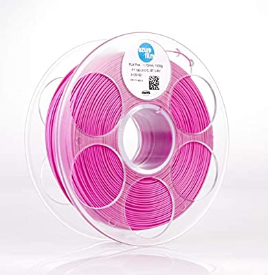 AZUREFILM PLA 3D Printer Filament, Accuracy +/- 0.02 mm, 1 kg Spool, 1.75 mm, Pink