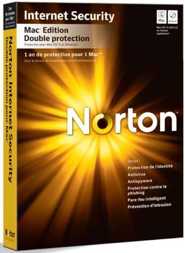 Norton Internet Security dual protection 2010 pour Mac (2 postes, 1 an) - mise à jour