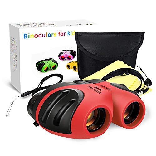 KITY Spielzeug Mädchen 4-12 Jahre,Kinderfernglas8x21SpielzeugfürKinderKompakteFerngläserfürVogelbeobachtungCampingWandernOutdoor-Aktivitäten Spielzeug für Mädchen 3-12 Jahre(Rot)