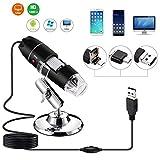 Digitales Mikroskop, YOMYM Digital Mikroskop Endoskop USB Mikroskop Vergrößerung 8 LED-1000x USB-Mikroskop für Windows 2000, XP, VISTA, WIN 7, WIN 8, WIN 10, MAC und Linux