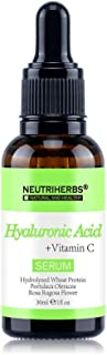 1 fl oz (30 mL) HYALURONIC ACID SERUM WITH VITAMIN C │HUMECTANT LOCKS IN AND BALANCES MOISTURE, WHICH GIVES THE SKIN A SOF...