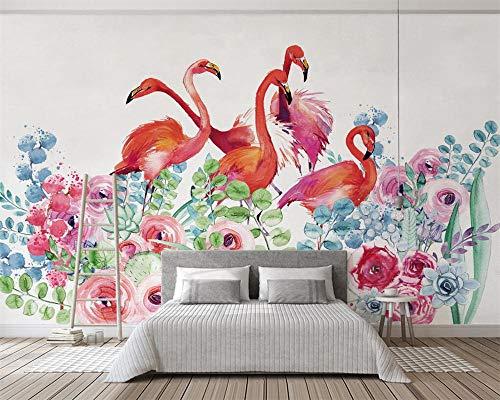 floral flamingo televisión fondos de pantalla fondo paredes 3d papel pintado 150×105cm