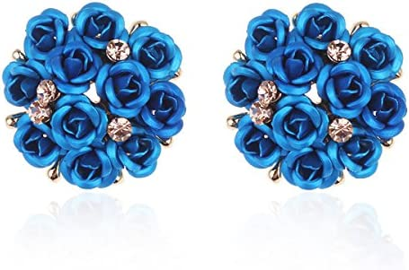 Shining Diva Fashion AAA High Quality Floral Gold Plated Stylish Fancy Party Wear Earrings For Women & Girls product image