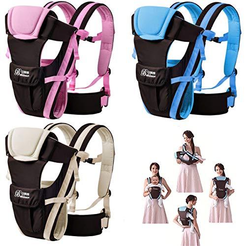 CdyBox Adjustable 4 Positions Baby Carrier 3D Backpack Infant Newborn Pouch Bag Wrap Soft Structured Ergonomic Sling Front Back (Khaki)