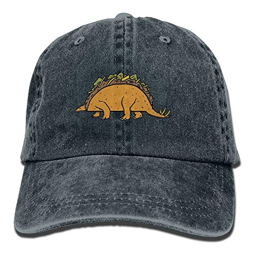 AOHOT Herren Damen Baseball Caps,Hüte, Mützen, Classic Baseball Cap, Unisex Adult Taco Dinosaur Combo Washed Denim Cotton Sport Outdoor Baseball Hat Adjustable One Size
