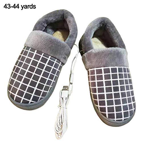 earlyad Fußwärmer Elektrisch, USB Wiederaufladbare Elektrische Heizung Hausschuhe Schuhe Baumwolle Fußwärmer Wärmflasche Fußsack Komfortable Plüsch Warme Schuhe Hausschuhe Für Frauen Männer Famous
