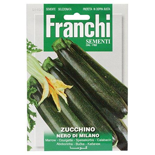 Seeds of Italy Franchi Courgette noire de Milan