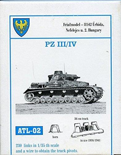 Friulmodel ATL02 1/35 Metal Track Link Set for Pz.III A-G & Pz.IV A-D. 36cm width