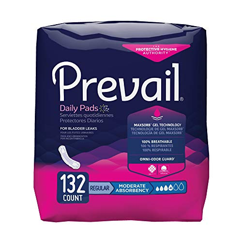 Prevail Maximum Absorbency Regular Length Bladder Control Pad (132 Count)