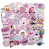 Pink Aesthetic Sticker Pack Vinyl Waterproof Water Bottle Laptop Feminists Trendy Stickers Decal Graffiti Patches53 Pcs