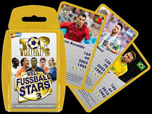 Winning Moves 63834 Fußball Top Trumps - Weltfussball Stars 3, Trumpfspiel
