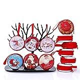Gudotra 14 Pezzi Addobbi Albero di Natale Scatole Regalo Caramelle Natalizie Gadget Compleanno Natale Decorazione Oggettistica Natale