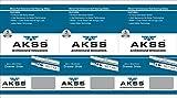 AKSS Steel 4 Ball Bearing Telescopic Slide/Drawer Channel (Silver) (12)