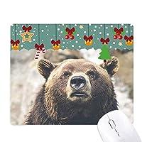 陸生生物が野生動物のクマ ゲーム用スライドゴムのマウスパッドクリスマス