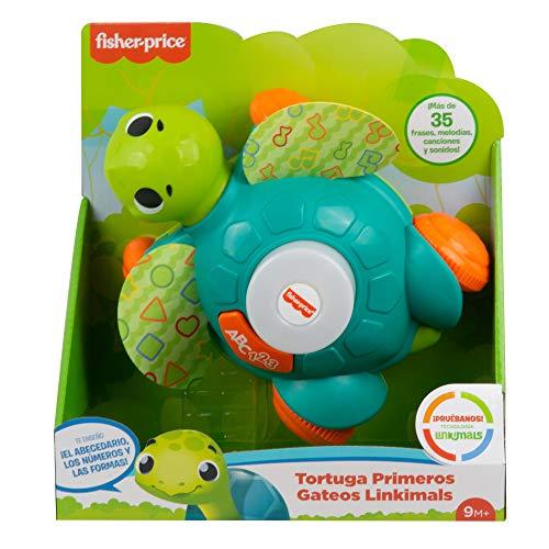 Fisher-Price Linkimals Tortuga sienta y gatea, juguete para bebés con luces y...