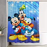 Meirdre Stylish Shower Curtain Mickey Donald Duck Printing Waterproof Bathroom Curtain 60 X 72 Inches