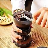 Manual Coffee Grinder, Coffee4u Adjustable Ceramic Burr Grinders with Stainless Steel Adjustment Nut and Glass Jar