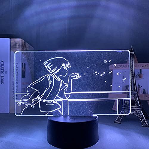 Anime Light Spirited Away LED para niños, decoración para dormitorio, cumpleaños, habitación, escritorio, lámpara de acrílico 3D Spirited Away