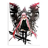 ADRIAFE Nikki Shirt Mirai Yuno Manga T Future Anime Diary Gasai | Impressive Posters for Room Decoration Printed with The Latest Modern Technology on semi-Glossy Paper Background