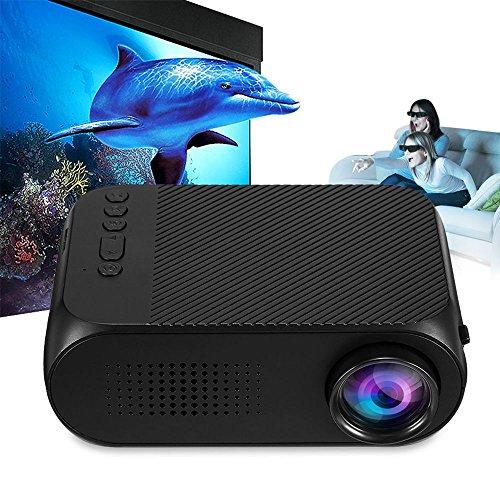 TOOGOO 2018 Mini YG320 Home Theater AV/HDMI TF di Sostegno del proiettore EU Spina