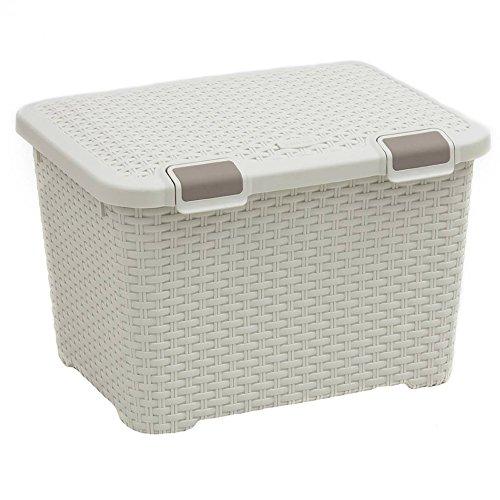 CURVER Behälter STYLE 43L Style Box 43L Behälter, Polypropylen, cremig, 50x40x33, 4