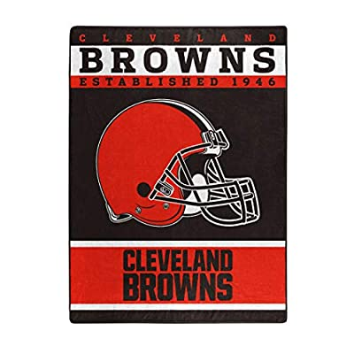 "The Northwest Company Officially LicensedNFL Cleveland Browns ""12th Man"" Plush Raschel Throw Blanket, 60"" x 80"", Multi Color"