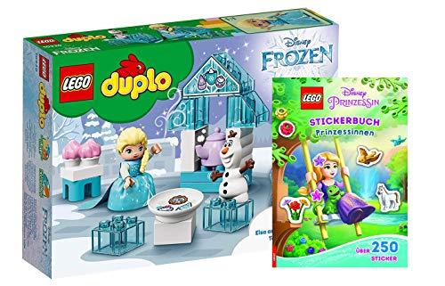 Collectix Lego Duplo Disney Frozen: 10920 Elsas und Olafs EIS-Café + Lego Disney Prinzessin: Stickerbuch Prinzessinnen (Softcover)