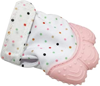 Pudincoco 1 pieza de silicona de grado alimenticio mordedor para beb/é juguetes dentici/ón manopla guantes molares sonda neta de tela beb/é guantes mit/ón de beb/é