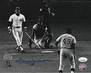 Reggie Jackson Signed New York Yankees 8x10 Photo (JSA COA) Baseball 1977 World Series