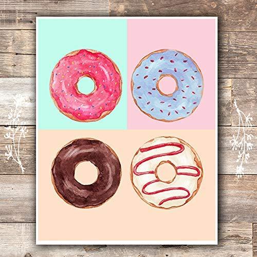 Donut Wall Art Print - Unframed - 8x10 | Kitchen Wall Decor