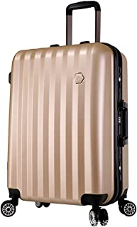 """Stylish and durable Wheels Travel Rolling Boarding,20"""" 24""""Inch 100% Aluminium Spinner Aluminium Convenient Trolley Case,Super Storage Luggage Bag, high quality (Color : Gold, Size : 20inch)"""