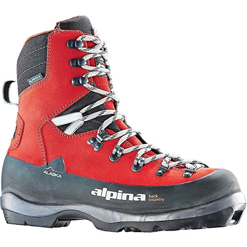 Alpina Sports Alaska Leather Backcountry Cross Country Nordic Ski Boots, Red, Euro 44