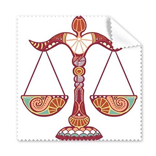 Teken Weegschaal Constellatie Zodiac Symbool Mark Illustratie Patroon Bril Doek Schoonmaak Doek Telefoon Scherm Cleaner 5 stks