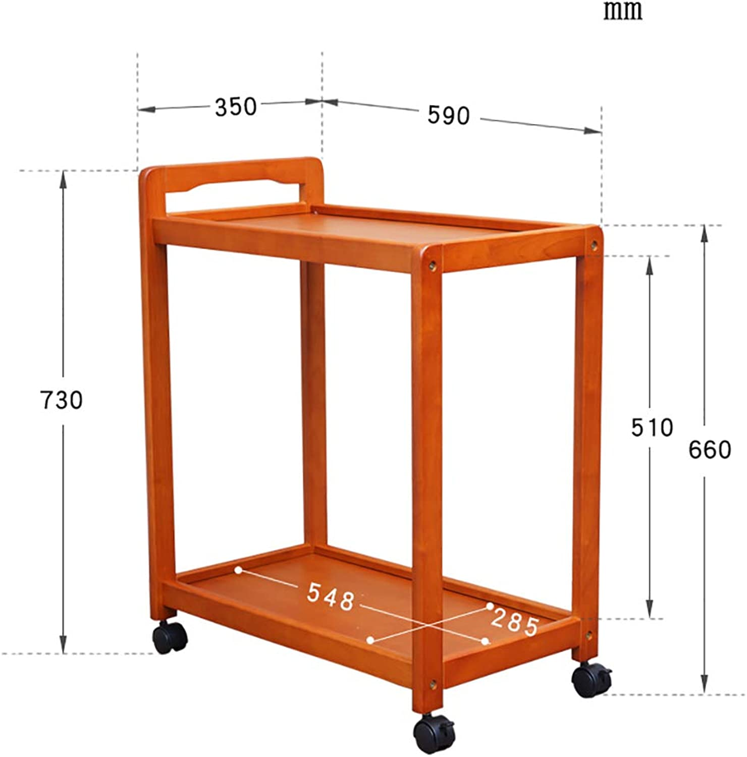 Kitchen Serving Trolley Cart Kitchen Storage Trolley on Wheels Restaurant Storage Finishing Shelves Bamboo (color   D)