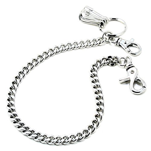 DoubleK Basic Strong Leash Biker Trucker Key Jean Wallet Chain (21') Silver CS15420