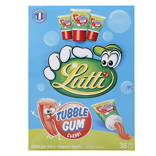 Lutti Tubble Gum Cherry - Tuben-Kaugummi Kirsch 36St.
