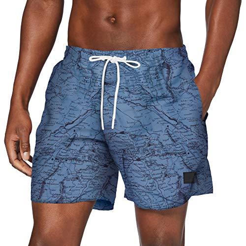 Urban Classics Herren PatternSwim Shorts Badehose, map AOP, L