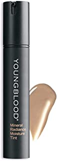 Youngblood Clean Luxury Cosmetics Mineral Radiance Moisture Tint, Natural | Tinted Dewy Oil-Free Mineral Moisturizer Dry Skin Natural Hydrating Correcting | Vegan, Cruelty-Free