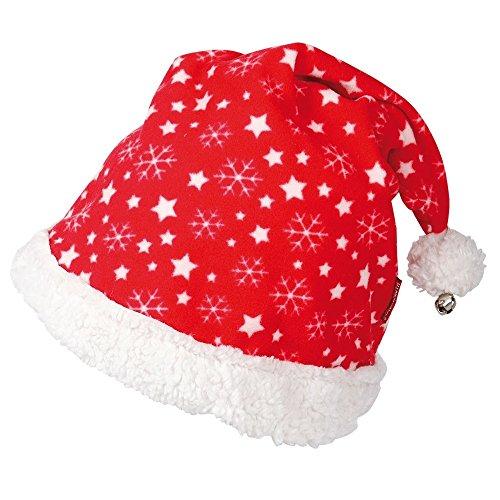 netproshop Winter Weihnachtsmütze Schneeflocke mit Glöckchen für Reithelm