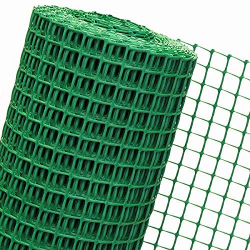 1,2m² CLÔTURE synthétique 1,20m de hauteur x 1m, B3/120, vert; barrière de chantier de construction, de jardin, de terrain (AU MÈTRE)