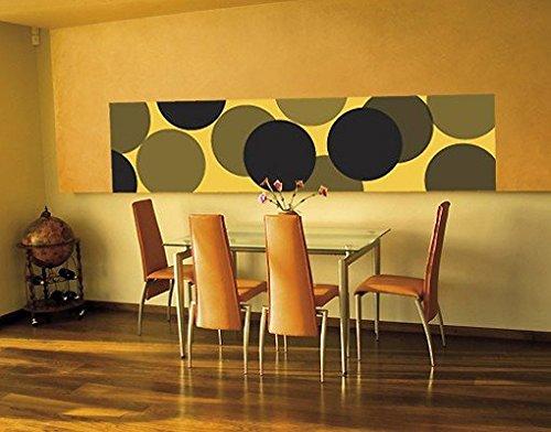 Ursula Lanzinger Adesivo murale No.UL256 Wallpaper Yellow Balls, Größe:489cm x 122cm