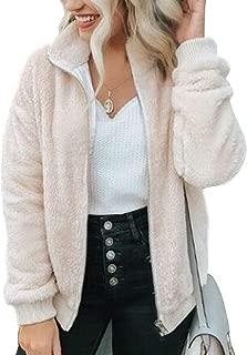 MAKARTHY Women's Full Zip Jacket Soft Fleece Sherpa...