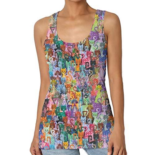 ZQLXD Pussies Galore - Camiseta sin mangas para mujer, diseño clásico y correa ancha