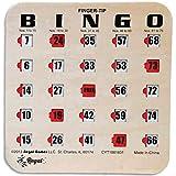 Regal Games Easy Read 4-Ply Finger-Tip Shutter Slide Bingo Cards, 25 Pack, Woodgrain