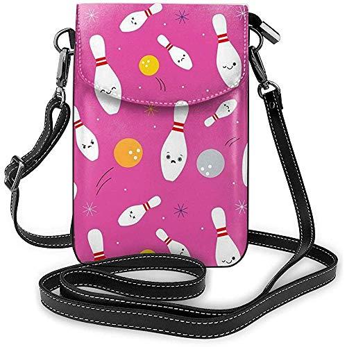 Glückliche Bowling-Party-Handy-Geldbeutel-Geldbörse für Frauen-Einkaufsreise-kleine Crossbody-Tasche