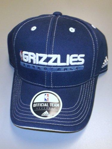 Memphis Grizzlies Color Block Correa Ajustable Adidas Hat - Jóvenes 4 - 7 YRS - N612B